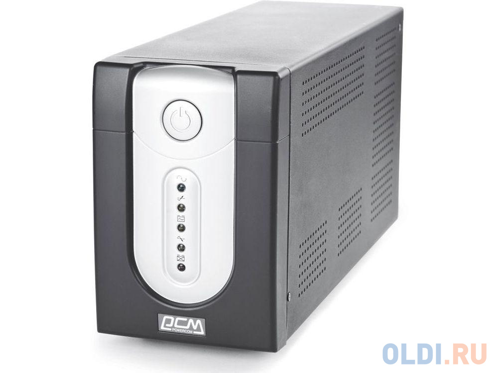 ИБП Powercom IMP-3000AP Imperial 3000VA/1800W USB,AVR,RJ11,RJ45 (6 IEC)*, черный ибп powercom imp 3000ap