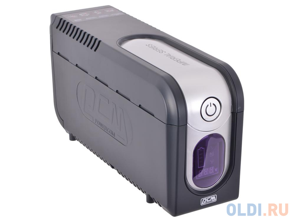 ИБП Powercom IMD-625AP Imperial 625VA/375W Display,USB,AVR,RJ11,RJ45 (3+2 IEC) ибп powercom imd 825ap 3 кабеля