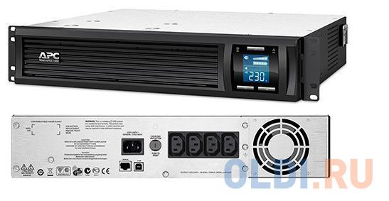 ИБП APC SMC1500I-2U Smart-UPS 1500VA/900W ибп apc smc1500i 2u 1500va