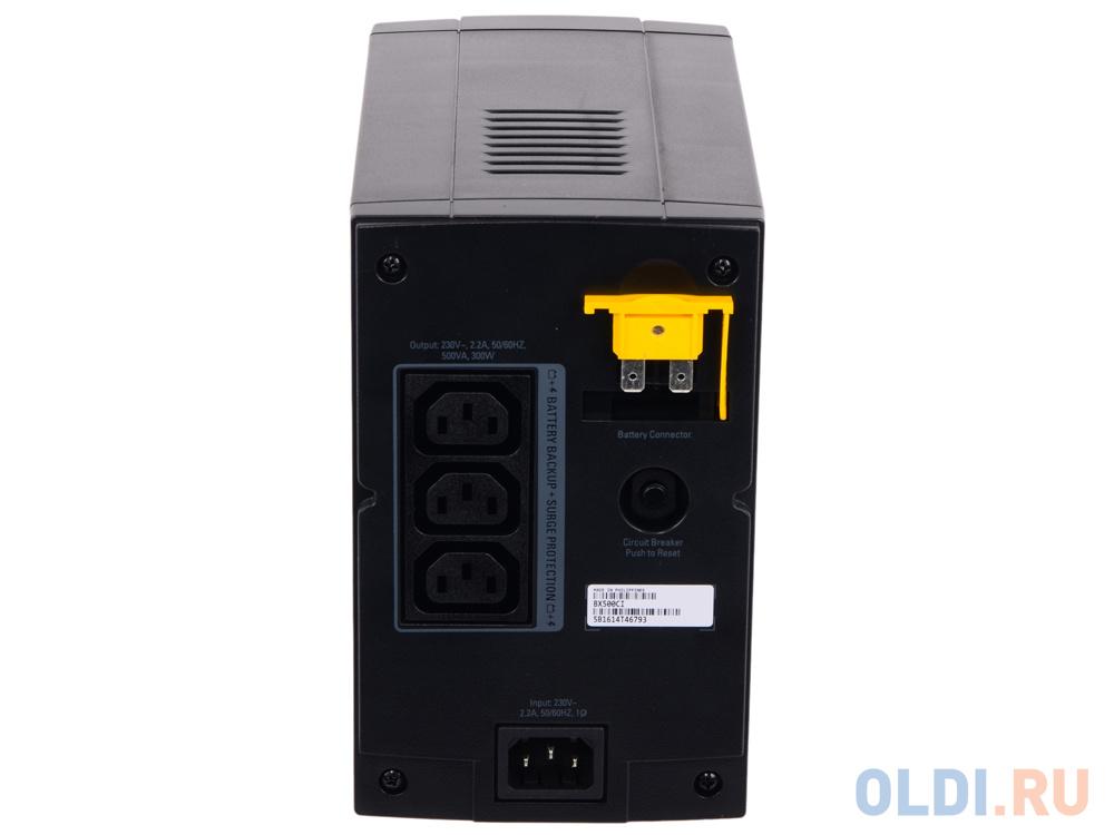 ИБП APC BX500CI Back-UPS 500VA/300W (3 IEC) ибп apc bk500ei back ups cs 500va 300w