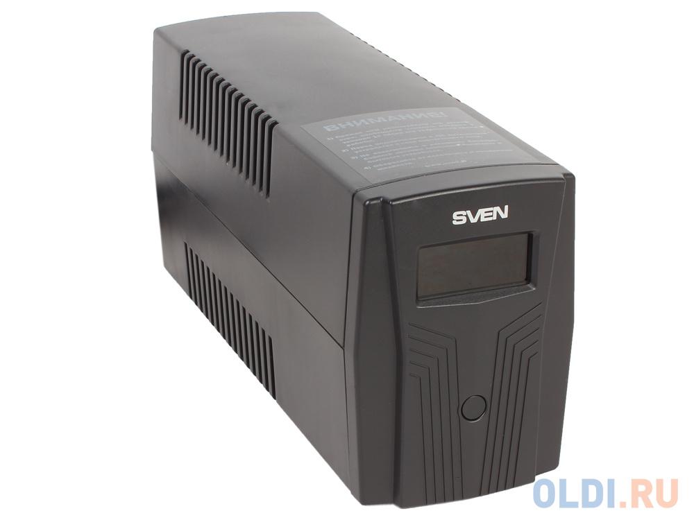 ИБП SVEN Pro 650 650VA/390W LCD, USB, RJ-45 (2 EURO)