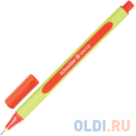 Ручка капиллярная SCHNEIDER (Германия) Line-Up, ОРАНЖЕВАЯ, трехгранная, линия письма 0,4 мм, 191006