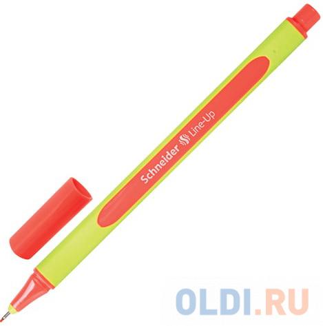 Ручка капиллярная SCHNEIDER (Германия) Line-Up, КОРАЛЛОВАЯ, трехгранная, линия письма 0,4 мм, 191022