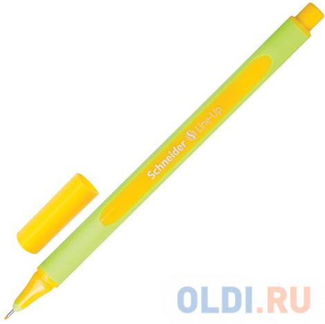Ручка капиллярная SCHNEIDER (Германия) Line-Up, ЗОЛОТОСТО-ЖЕЛТАЯ, трехгранная, линия письма 0,4 мм, 191005