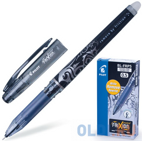 Фото - Ручка стираемая гелевая PILOT Frixion Point, игольчатый узел 0,5 мм, линия 0,25 мм, черная ручка гелевая черная bl p50 b pilot пилот