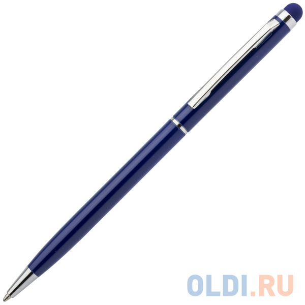 Шариковая ручка автоматическая Index IMWT1316/BU синий 1 мм со стилусом