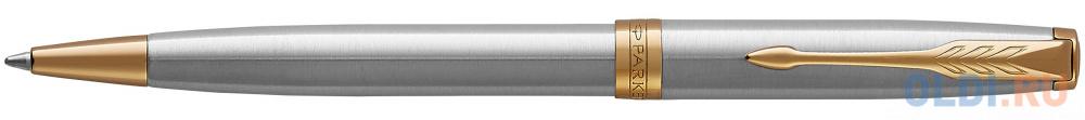 Шариковая ручка поворотная Parker Sonnet Core K527 Stainless Steel GT черный M 1931507 фото