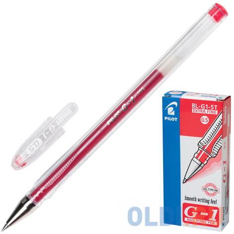 Фото - Ручка гелевая PILOT G-1, корпус прозрачный, узел 0,5 мм, линия 0,3 мм, красная, BL-G1-5T ручка гелевая черная bl p50 b pilot пилот