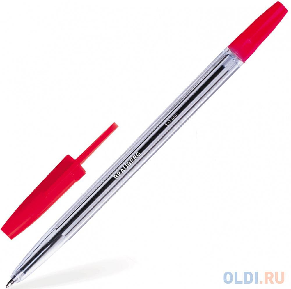 Ручка шариковая BRAUBERG Line красный 1 мм фото