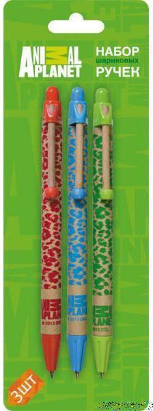 Набор шариковых ручек автоматическая Action! Animal Planet 3 шт AP-ABP151/3 AP-ABP151/3 action набор подвесок action праздничных вечеринка 3 шт