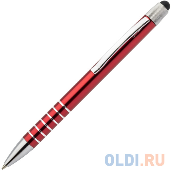 Шариковая ручка автоматическая Index IMWT1315/RD синий 1 мм со стилусом
