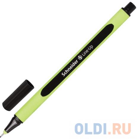 Ручка капиллярная SCHNEIDER (Германия) Line-Up, ЧЕРНЫЙ САПФИР, трехгранная, линия письма 0,4 мм, 191001