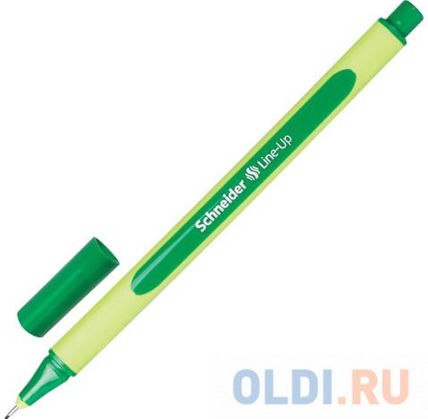 Ручка капиллярная SCHNEIDER (Германия) Line-Up, ТЕМНО-ЗЕЛЕНАЯ, трехгранная, линия письма 0,4 мм, 191004