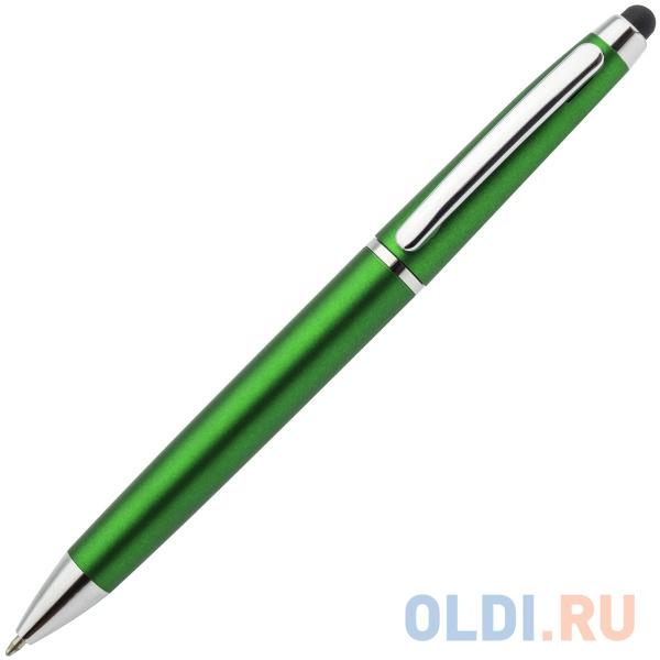 Шариковая ручка автоматическая Index IMWT1310/GN синий 1 мм со стилусом