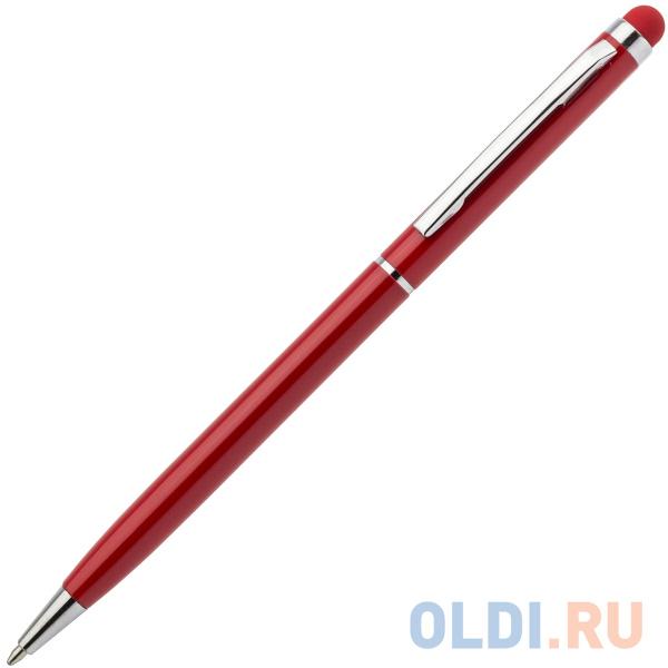 Шариковая ручка автоматическая Index IMWT1316/RD синий 1 мм со стилусом