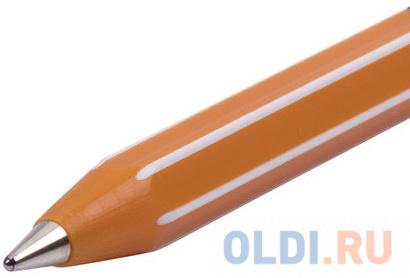 Ручка шариковая масляная PENSAN Officepen 1010 СИНЯЯ корпус оранжевый узел 1 мм 1010/60.