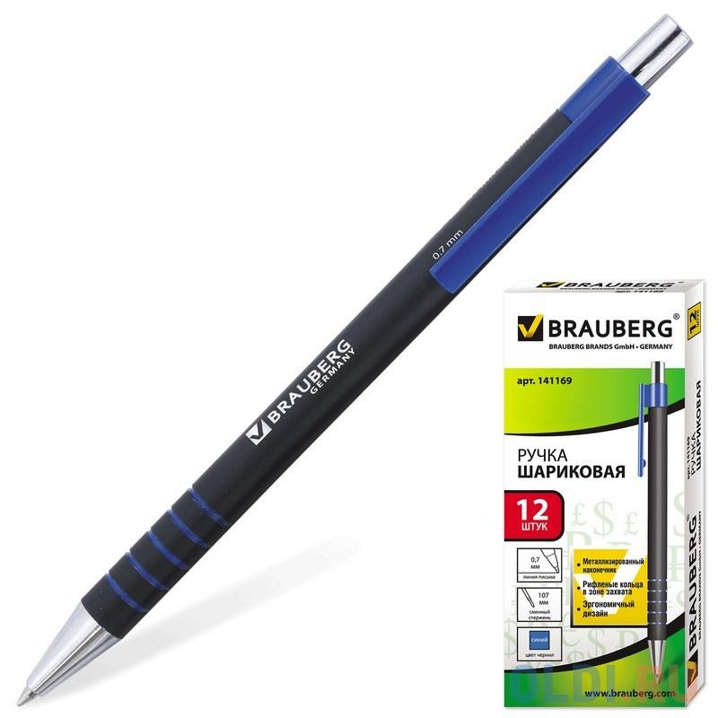 Фото - Ручка шариковая автоматическая BRAUBERG 141169 синий 0.35 мм ручка шариковая автоматическая brauberg violin синий 0 35 мм
