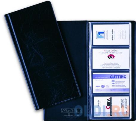 Визитница Durable на 96 визиток черный визитница на 120 визиток на кольцах разм 13х19 см темно синяя pvc
