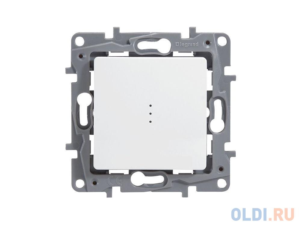 Выключатель Legrand ETIKA 10АХ с подсветкой на винтах белый 672303.