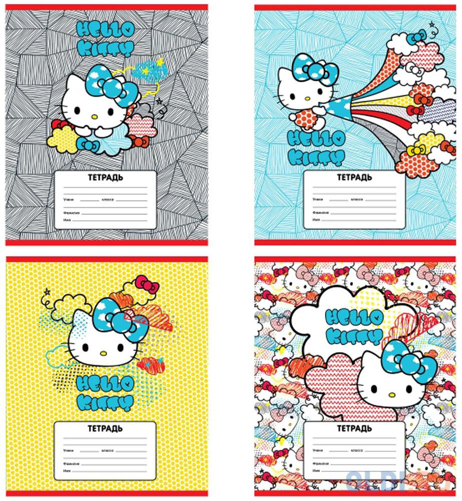 Тетрадь школьная Action! Hello Kitty 12 листов линейка скрепка HKO-AN-1201/1-3 тетрадь школьная action love is 18 листов линейка скрепка li an 1804 1 в ассортименте