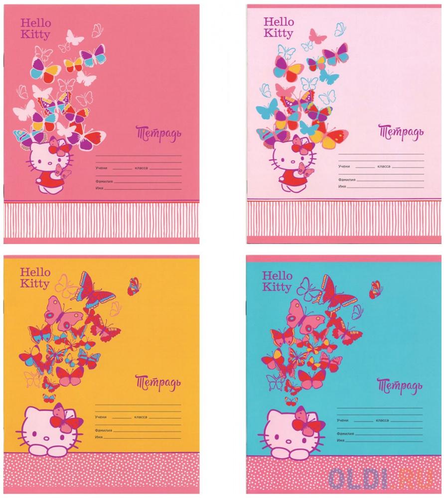 Тетрадь школьная Action! Hello Kitty 12 листов клетка скрепка HKO-AN-1201/5 в ассортименте тетрадь школьная action an 1801 5m 18 листов клетка скрепка в ассортименте