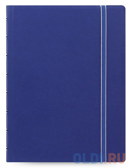 Тетрадь Filofax CLASSIC BRIGHT 115009 A5 PU 56л линейка съемные листы спираль двойная синий фото