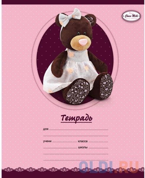 Тетрадь школьная Би Джи Bears Choko&Milk 12 листов клетка Т5ск12гл 2175