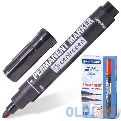 Маркер перманентный Centropen 8866/1,8566/4 2.5 мм черный 150061 фото