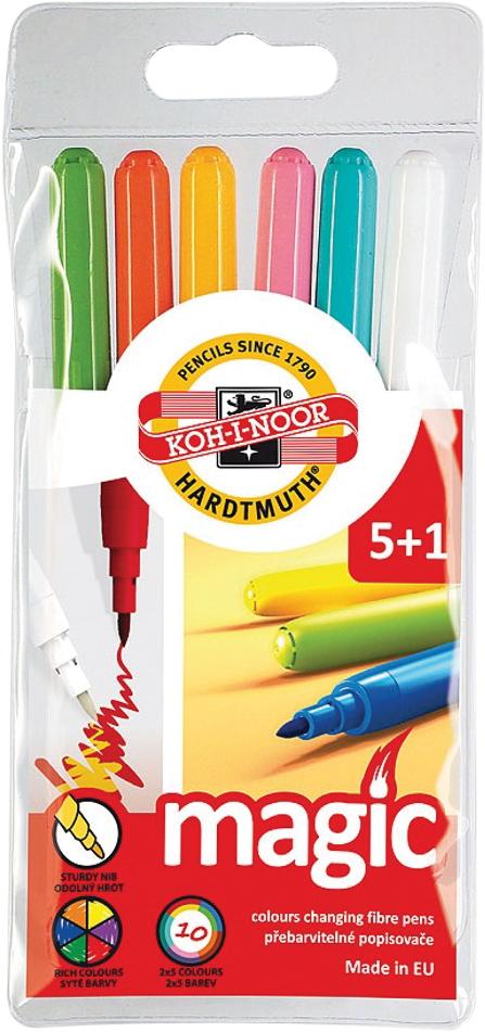 Набор фломастеров Koh-i-Noor 771612/5 TE 6 шт разноцветный набор фломастеров koh i noor домашние животные 1 мм 24 шт 1002 24 te