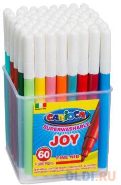 Набор фломастеров CARIOCA Joy 60 шт carioca набор фломастеров carioca joy 24 цв в картонном конверте с европодвесом
