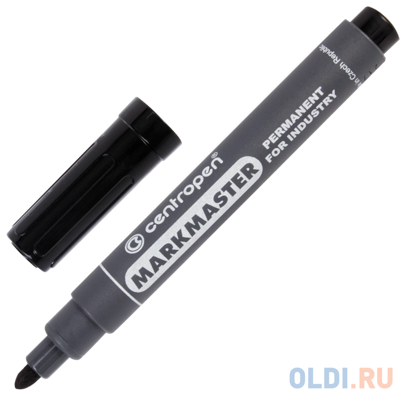 Маркер перманентный Centropen Marksmaster 1.5 мм черный