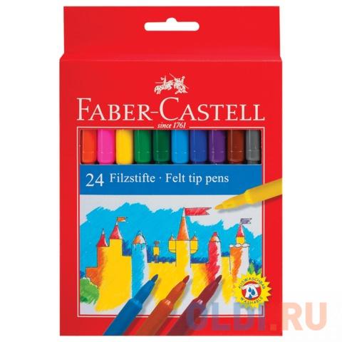 фломастеры faber castell connector 60цв смываемые соединяемые колпачки пластик уп европодв Фломастеры FABER-CASTELL, 24 цвета, смываемые, картонная упаковка, европодвес, 554224