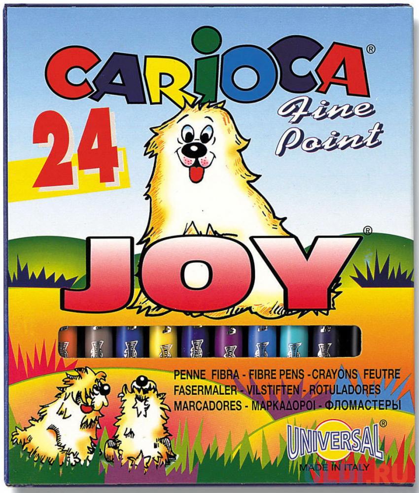 Набор фломастеров Universal CARIOCA JOY 2 мм 24 шт разноцветный 40615/24 40615/24 фото