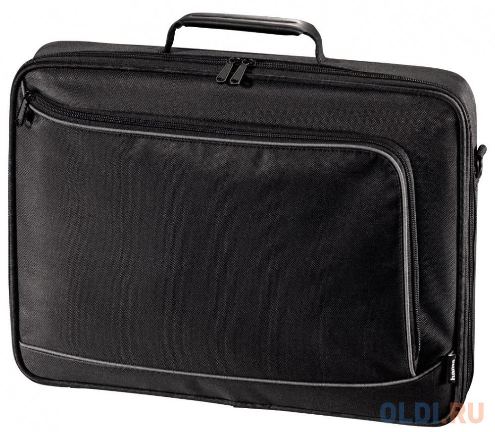 """Сумка для ноутбука 17.3"""" HAMA Sportsline Bordeaux политекс серый черный 1094 101755"""