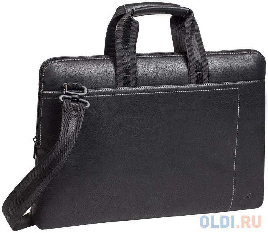 Сумка для ноутбука 13.3 Riva 8920 искусственная кожа черный