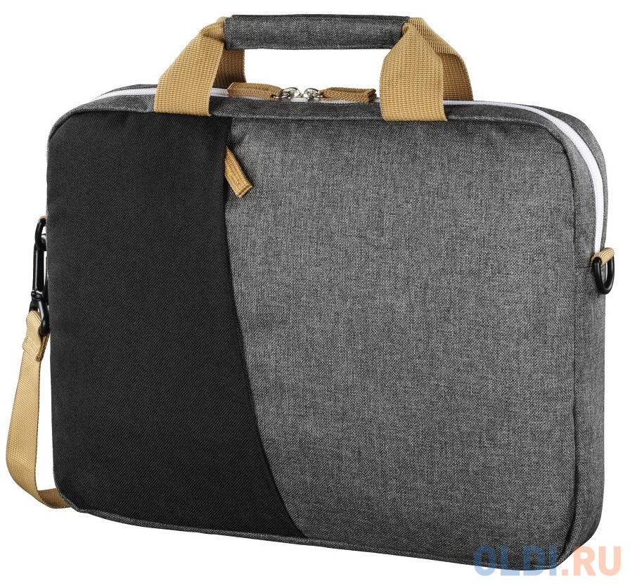 """Сумка для ноутбука 15.6"""" HAMA Florence (00101568) полиэстер черный серый"""
