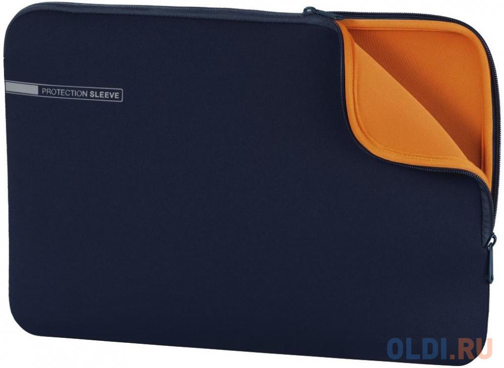 """Чехол для ноутбука 13.3"""" HAMA 00101553 неопрен синий оранжевый"""