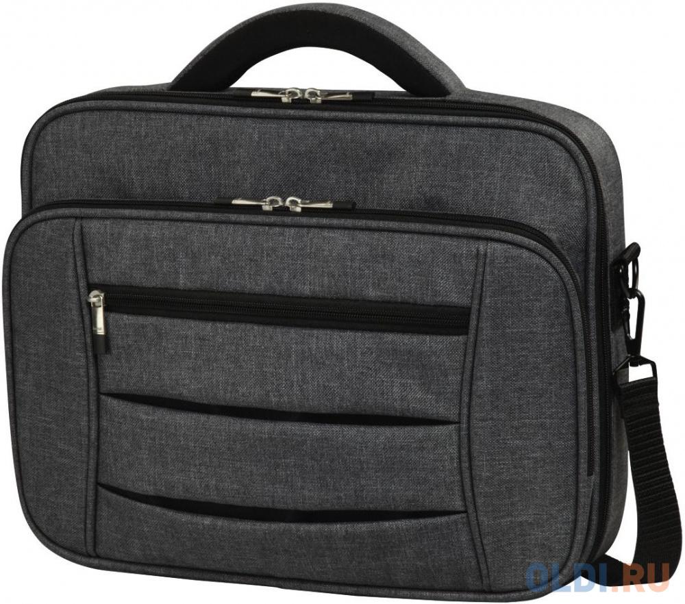 """Сумка для ноутбука 17.3"""" HAMA """"Business"""" полиэстер темно-серый 00101577"""
