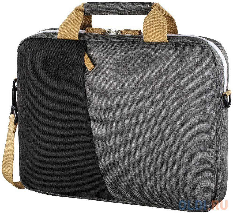 """Сумка для ноутбука 13.3"""" HAMA """"Florence"""" полиэстер черный серый 00101567"""