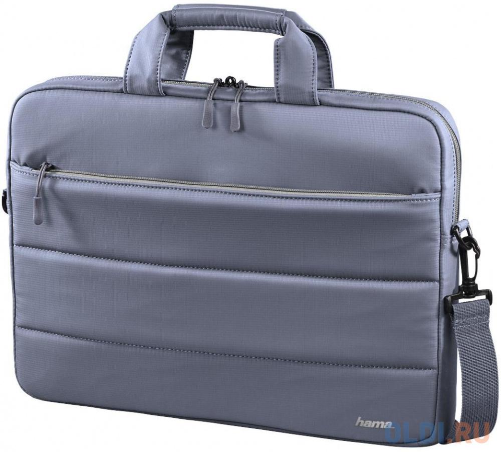"""Сумка для ноутбука 15.6"""" HAMA """"Toronto"""" нейлон серый голубой 00101851"""