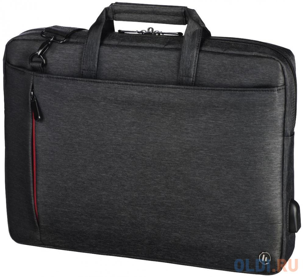 """Сумка для ноутбука 17.3"""" HAMA Manchester полиэстер черный 00101873"""