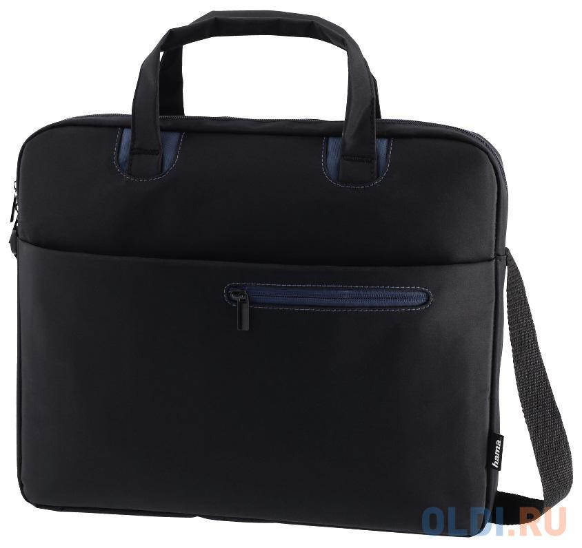 """Сумка для ноутбука 15.6"""" HAMA Sydney полиэстер черный синий 00101931"""
