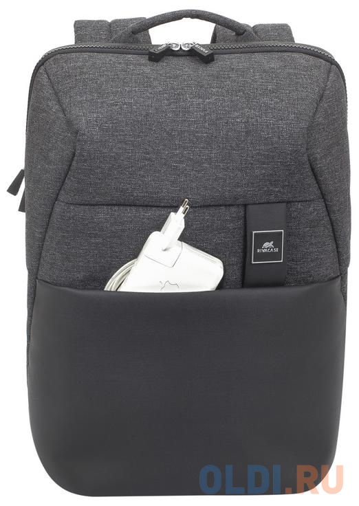 """Рюкзак для ноутбука 15.6"""" Riva 8861 полиэстер полиуретан черный"""