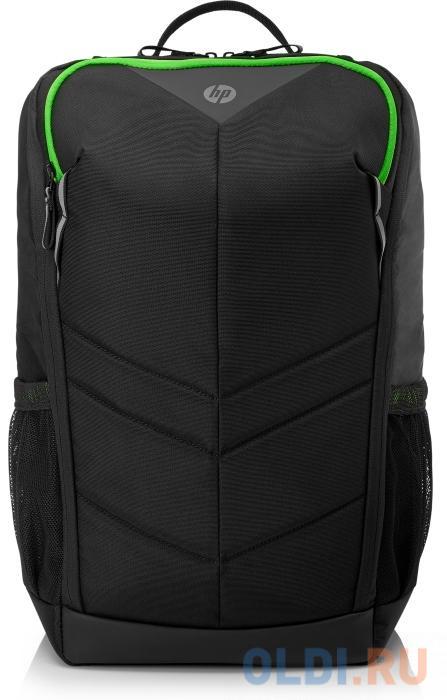 """Рюкзак для ноутбука 15.6"""" HP Pavilion Gaming 400 полиэстер нейлон черный зеленый 6EU57AA"""