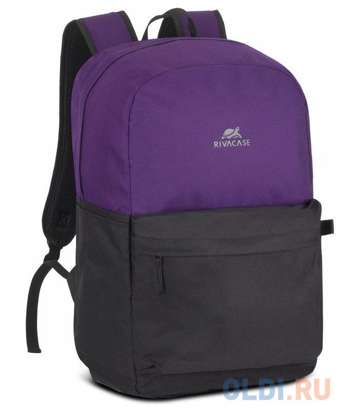"""Рюкзак для ноутбука 15.6"""" Riva Mestalla 5560 фиолетовый/черный полиэстер (5560 SIGNAL VIOLET/BLACK)"""