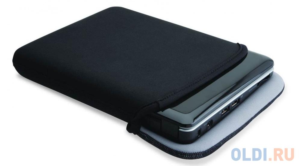 Чехол для нетбука 10.2 Kensington Reversible Sleeve for Netbooks неопрен черный серый K62914EU.