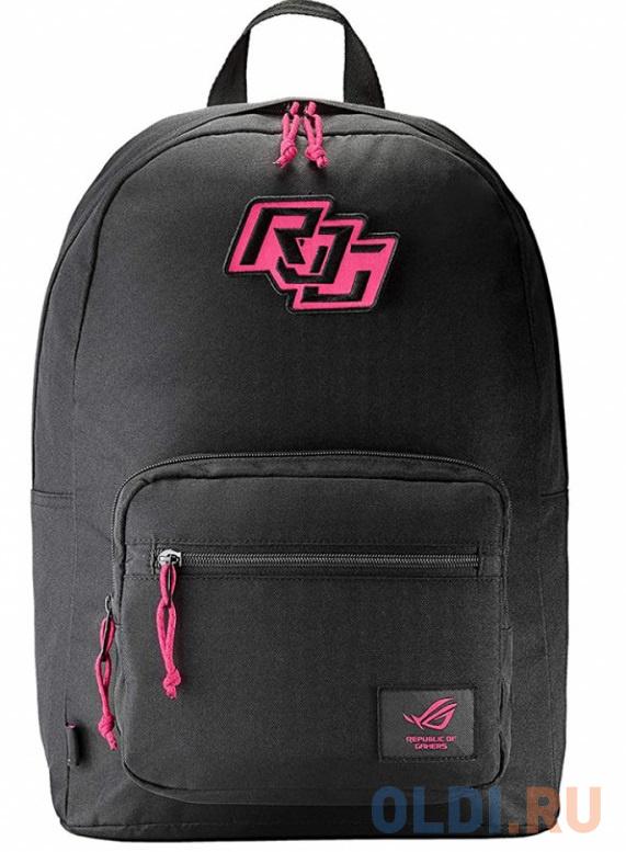 """Рюкзак для ноутбука ASUS ROG Ranger BP1503G Electro Punk чёрный (15.6"""", полиэстер, нубук, 90XB0680-BBP010)"""