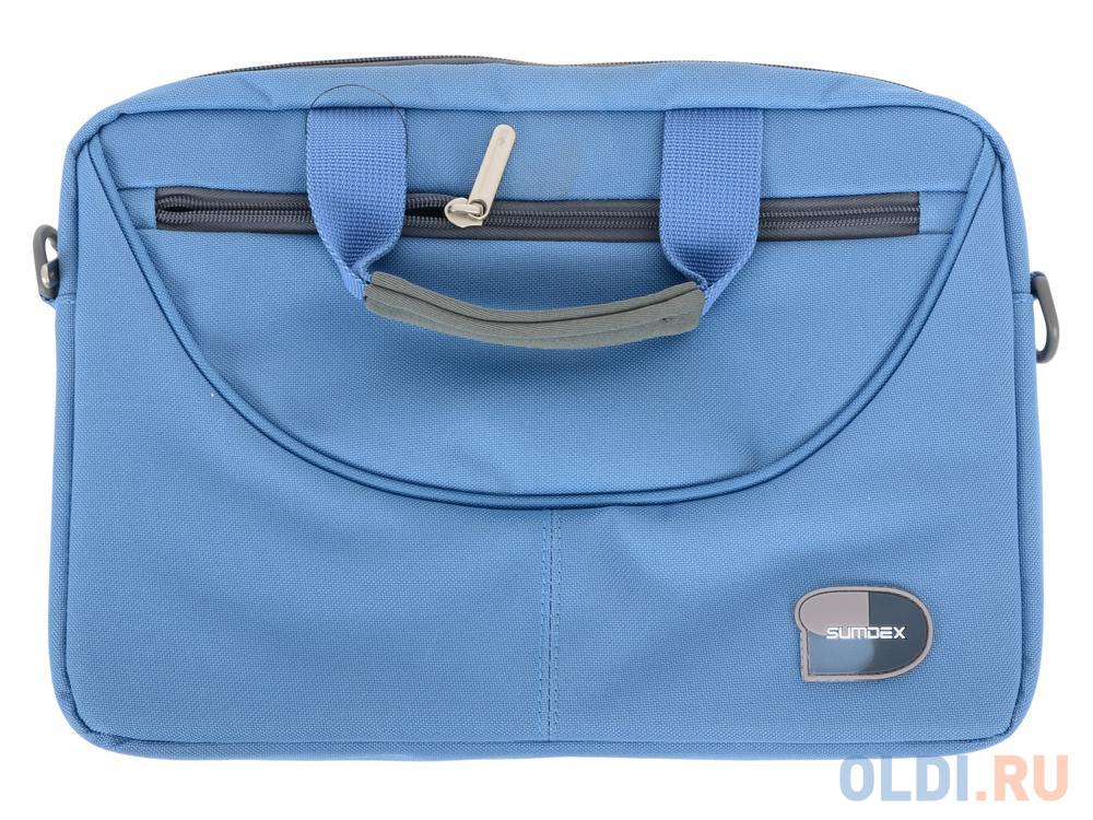 "Сумка для ноутбука Sumdex PON-308BU Netbook Case до 10"" (нейлон/полиэстер, голубой, 29,8 х 21 х 5,1 см.)"