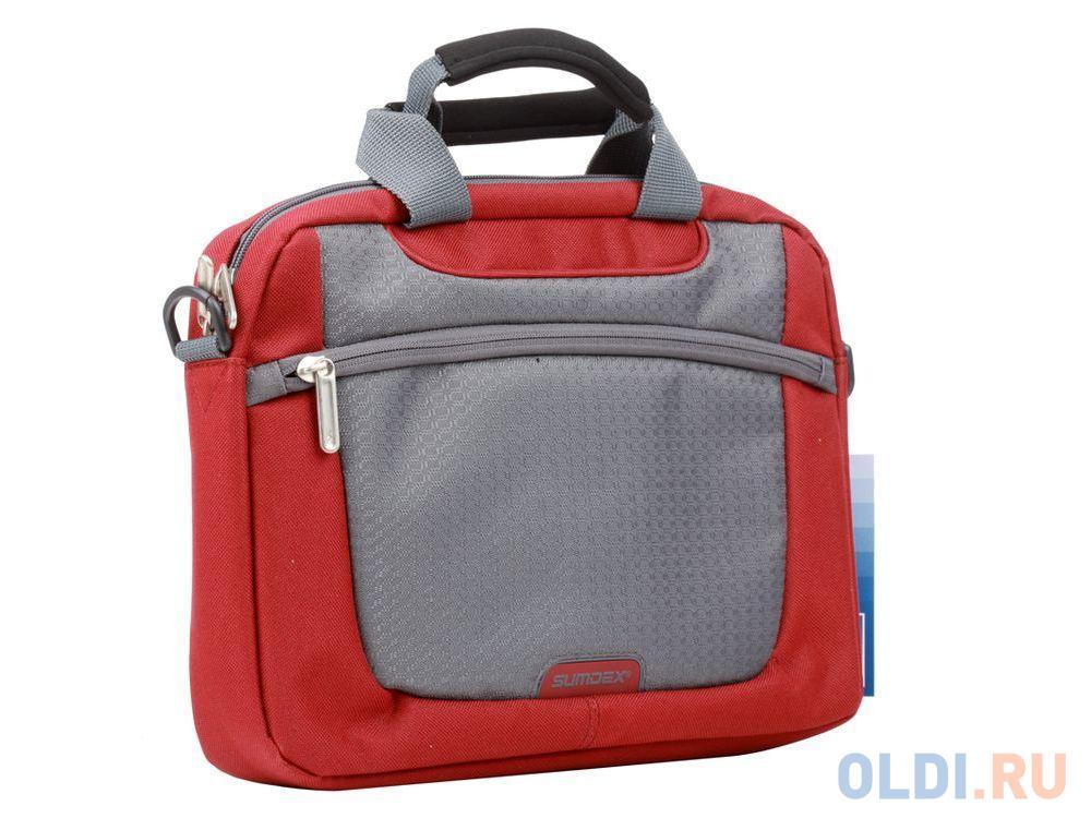 "Сумка для ноутбука Sumdex PON-308RD Netbook Case до 10"" (нейлон/полиэстер, красный, 29,8 х 21 х 5,1 см.)"