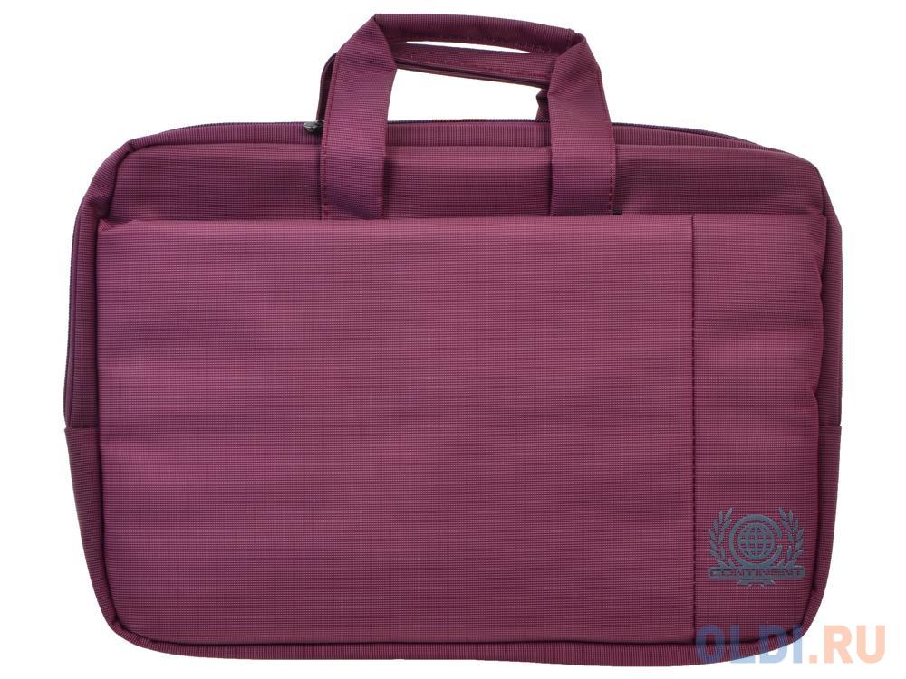 """Сумка для ноутбука Continent CC-215 PP до 15.6"""" (Розовый, полиэстр)"""